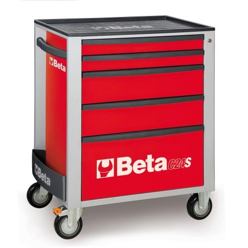 BETA C24S 5/R CASSETTIERA 5 CASSETTI VUOTA ROSSO C24S 5/R