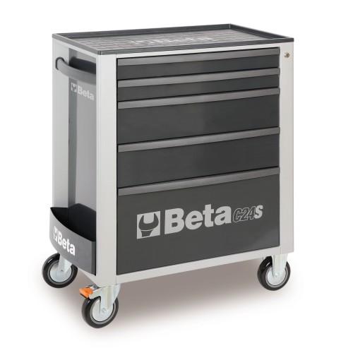 BETA C24S 5/G CASSETTIERA 5 DRAWERS VUOTA GRIGIO C24S 5/G