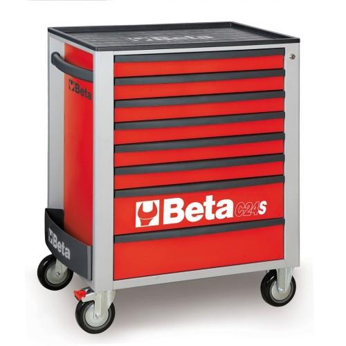 BETA C24S 7/R CASSETTIERA 7 CASSETTI VUOTE RED C24S 7/R