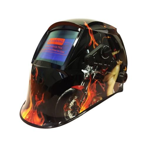 WELDING HELMETS MASCHERA PER SALDARE SCHERMO LCD REGOLAZIONI ESTERNE GIRL MOTORBIKE SPORTS
