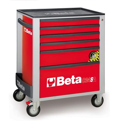 BETA C24SA 6/R CASSETTIERA 6 CASSETTI CON ANTIRIBALTAMENTO ROSSO