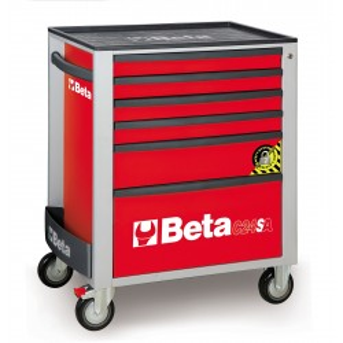 BETA C24SA/6R CASSETTIERA 6 CASSETTI CON ANTIRIBALTAMENTO ROSSO