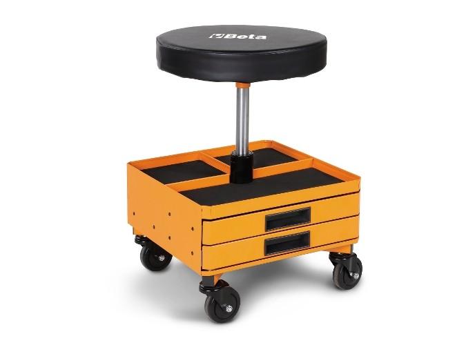 Beta o seggiolino girevole con cassetti arancio sgabello