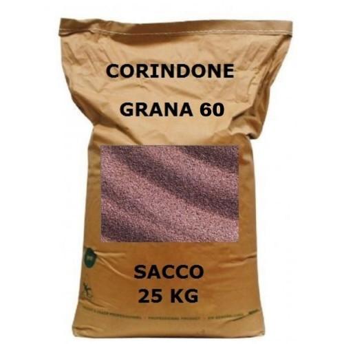 CORINDONE GR.60 SACCO 25KG PER SABBIATRICE