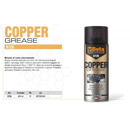 BETA 9726 COPPER GREASE GRASSO SPRAY AL RAME MICRONIZZATO 400ML