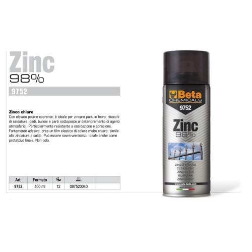 BETA 9752 ZINC 98% ZINCO CHIARO SPRAY 400ML