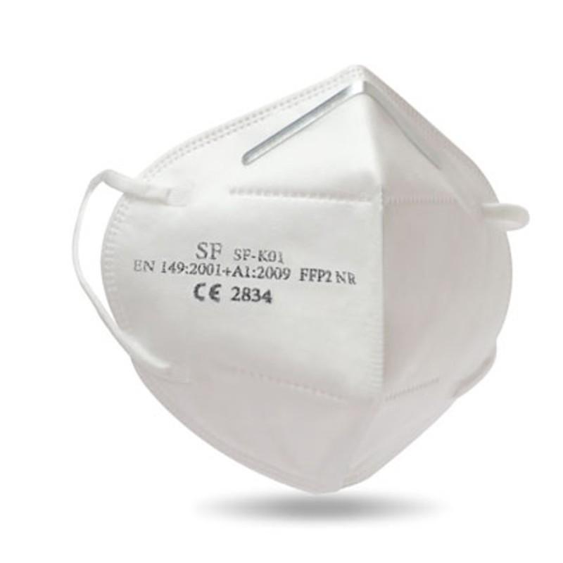 Mascherine FFP2 CE bianche confezione da 10 pezzi