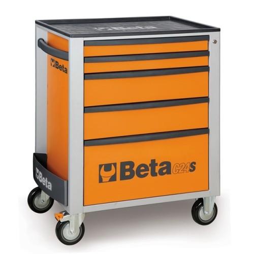 BETA C24S 5/O CASSETTIERA 5 CASSETTI VUOTA ARANCIO C24S 5/O