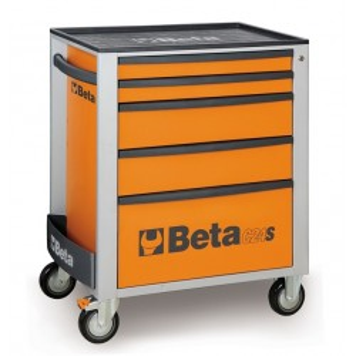BETA C24S 5/O CASSETTIERA 5 DRAWERS VUOTA ARANCIO C24S 5/O