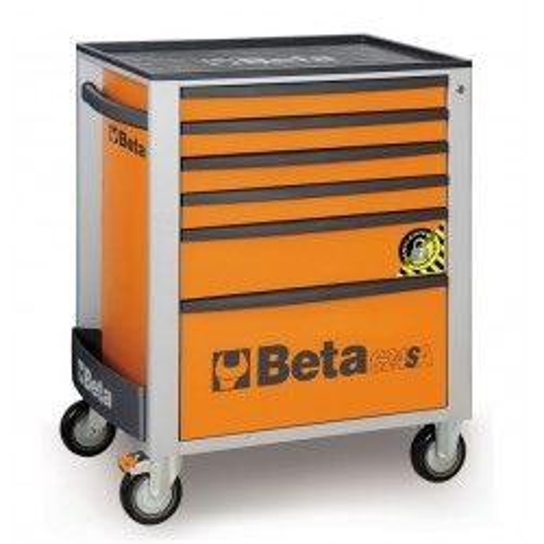 BETA C24SA 6/O CASSETTIERA 6 CASSETTI CON ANTIRIBALTAMENTO ARANCIO