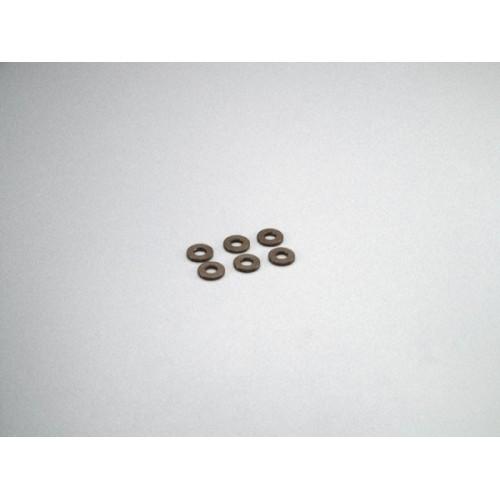 Rondelle Alu, 3x7x1mm Grigio (6)