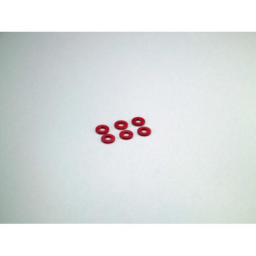 Rondelle Alu, 3x7x1mm Rosse (6)