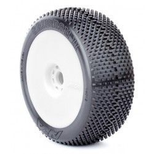 Gomme Buggy 1:8 Grid Iron II Super Soft montate su cerchi evo (2)