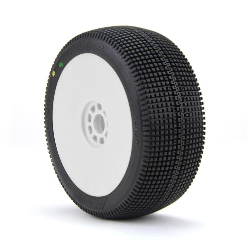 Gomme Buggy 1:8 Zipps Super Soft montate su cerchi evo (2)