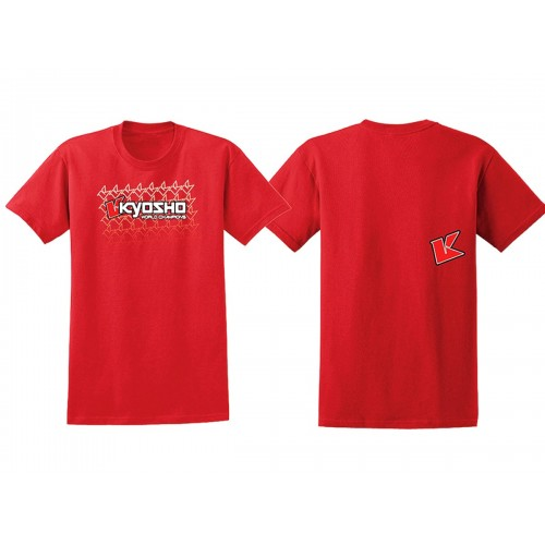 KY-88002 T-SHIRT ROSSO KYOSHO K-FADE 2.0