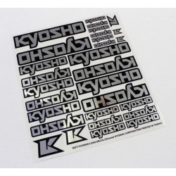 KY-36277 Decals - Kyosho Logo Chrome Cromati