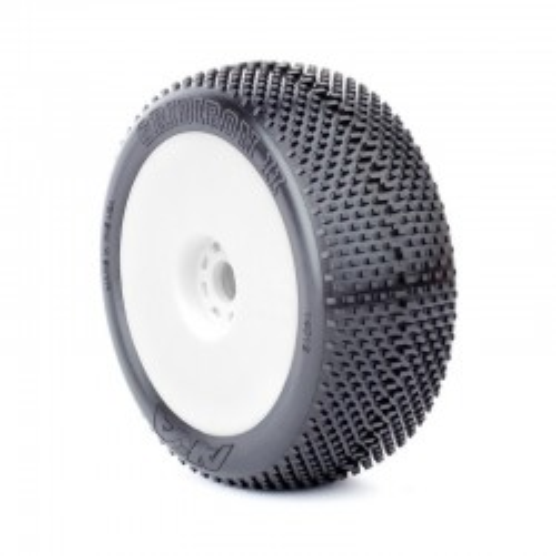 Gomme Buggy 1:8 Grid Iron II Soft montate su cerchi non originali (2)
