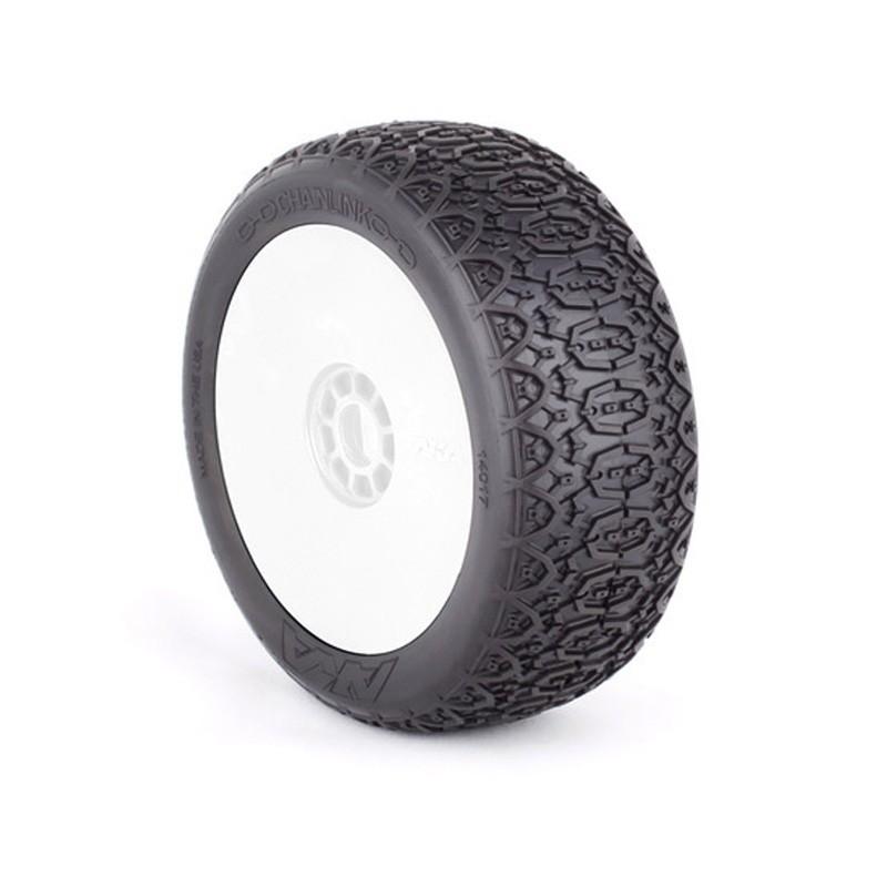 Gomme Buggy 1:8 Chainlink Medium Long Wear montate su cerchi non originali