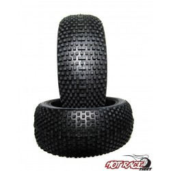 Gomme Buggy 1:8 Miami Hard (solo gomma) (1) Hot Race Tyres