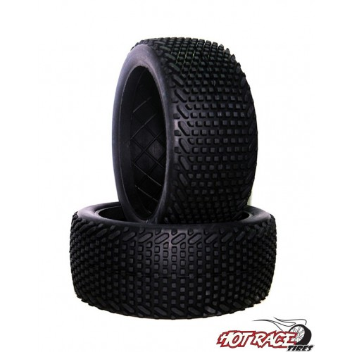 Gomme Buggy 1:8 Roma Hard (solo gomma) (1) Hot Race Tyres