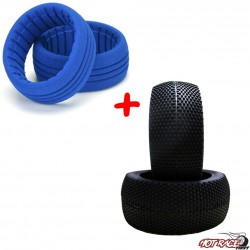 Bangkok Supersoft (gomme+riempimenti) (2+2) Gomme Buggy 1:8  Hot Race Tyres