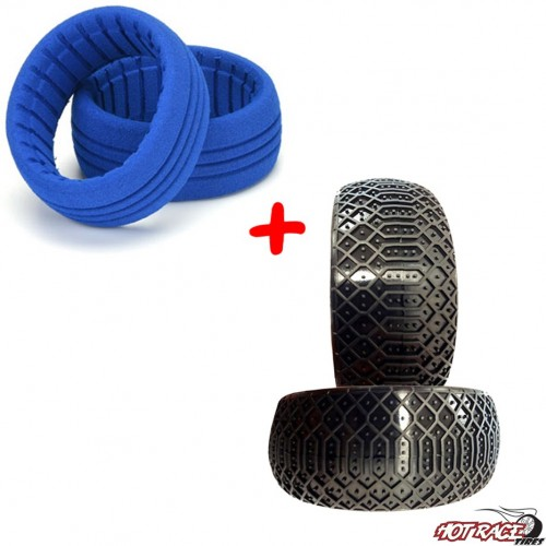 Sahara Supersoft (gomme+riempimenti) (2+2) Gomme Buggy 1:8  Hot Race Tyres