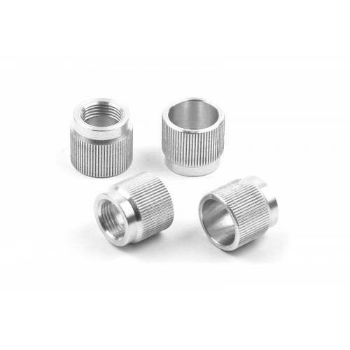 HUDY 108860 ALU NUT FOR 1/8 OFF-ROD SYSTEM (4)