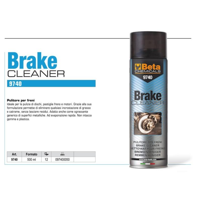 BETA 9740 BRAKE CLEANER PULITORE PER FRENI SPRAY 500ML
