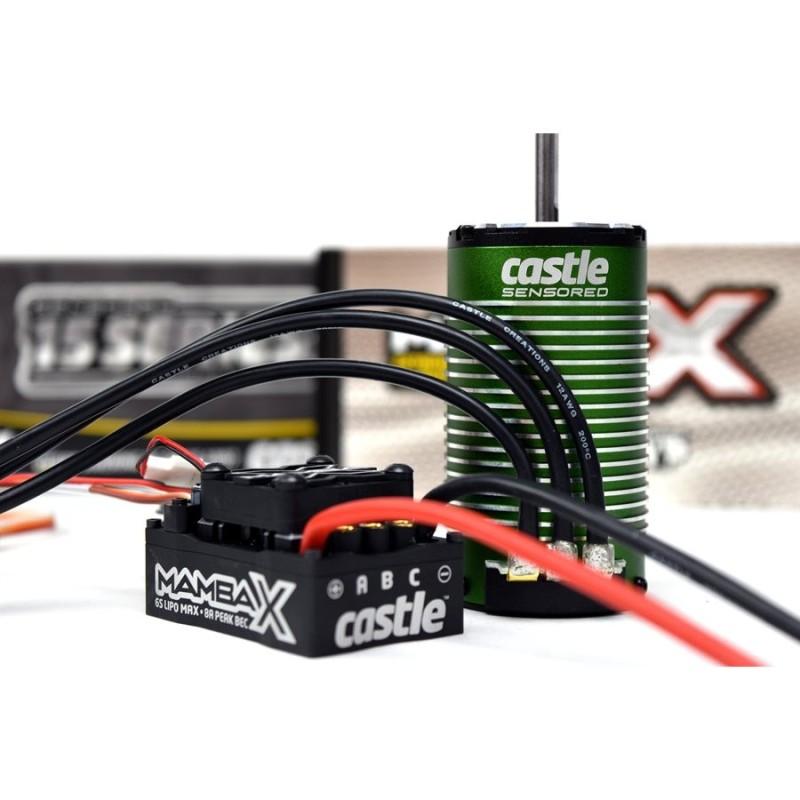 CSE010015505 Combo Regolatore e Motore 1/8 MAMBA X 25.2V WP ESC, 1512-2200KV Sensored Motor E-Buggy Edition