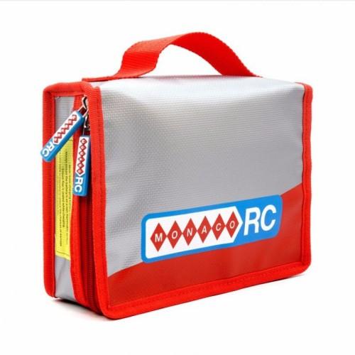 MonacoRC Fireproof Lipo Fly Bag Porta Batteria con inserto in gommapiuma