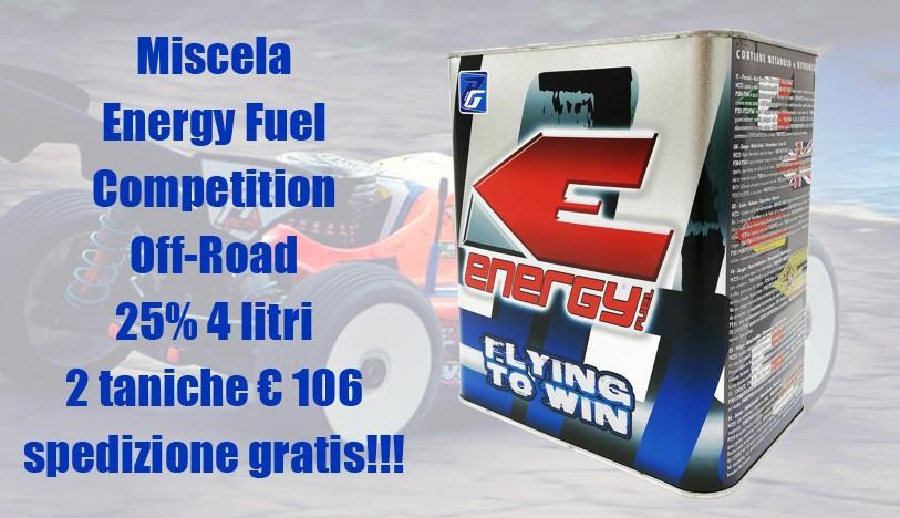 Energy Fuel Miscela Competition Off Road 25% 4 Lt - 2 taniche € 106 spedizione compresa!!!